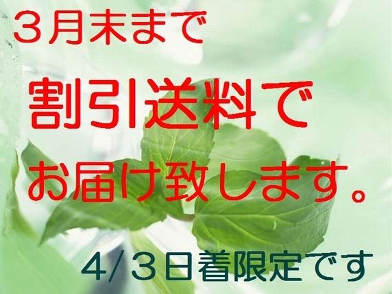 割引送料実施中!3月は減農薬米も割引販売!