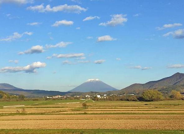 羊蹄山(蝦夷富士)冠雪
