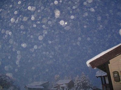 初雪が消えずに根雪に